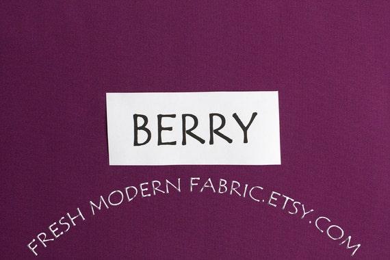 One Yard Berry Kona Cotton Solid Fabric from Robert Kaufman, K001-1016