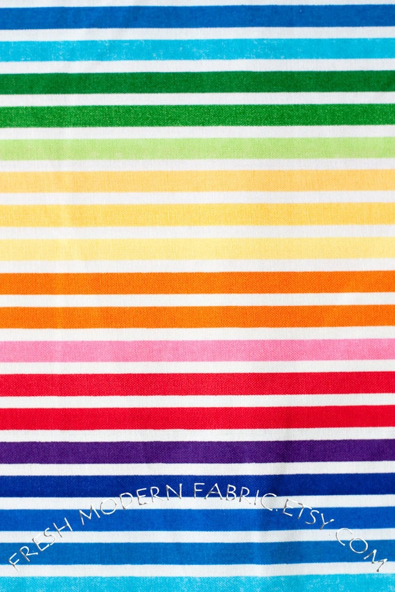 Half Yard of Remix Stripe in Bright, by Ann Kelle for Robert Kaufman Fabrics, 100% Cotton Fabric