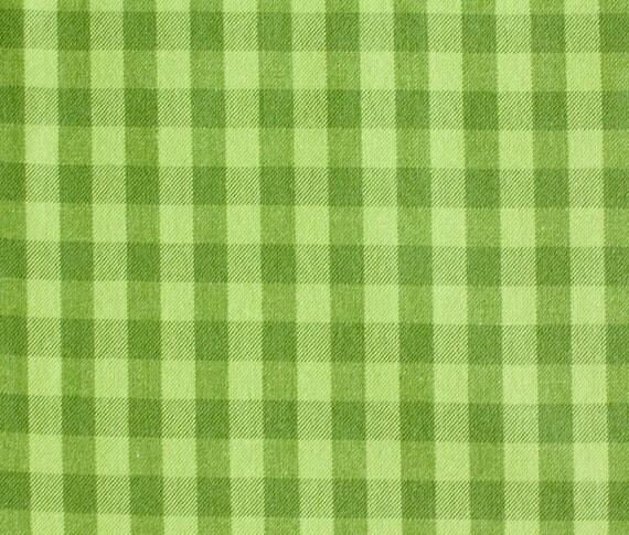 LAST PIECE Half Yard Green Gingham Plaid, by Patrick Lose, Kona Colorworks 2, Robert Kaufman Fabrics, Woven Cotton Fabric