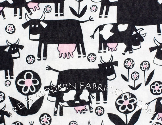 Half Yard of Park and Moo, Monkey's Bizness, by Alexander Henry, 100% Cotton Fabric