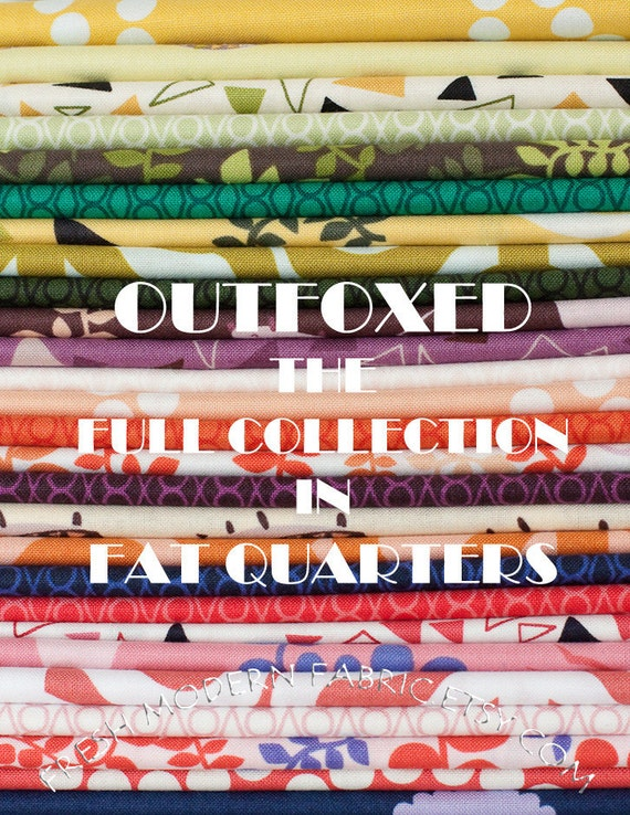 LAST AVAILABLE Fat Quarter Full Collection Outfoxed, 27 Fat Quarters, Lizzy House for Andover Fabrics, 100% Cotton Fabric