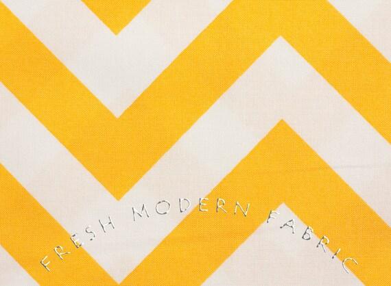 Half Yard of Half Moon Modern Zig Zag in Sunshine, Moda Fabrics, 100% Cotton Fabric, 32349-18