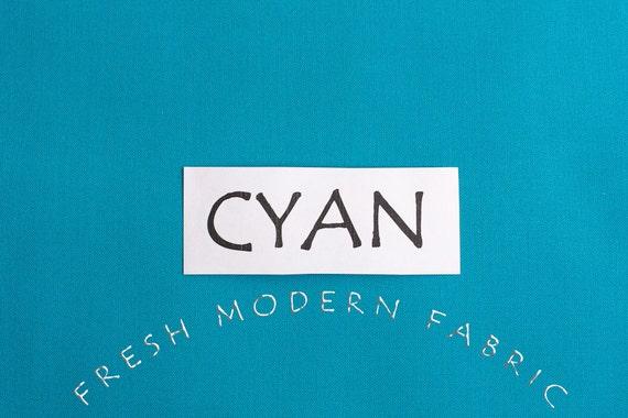 One Yard Cyan Kona Cotton Solid Fabric from Robert Kaufman, K001 151