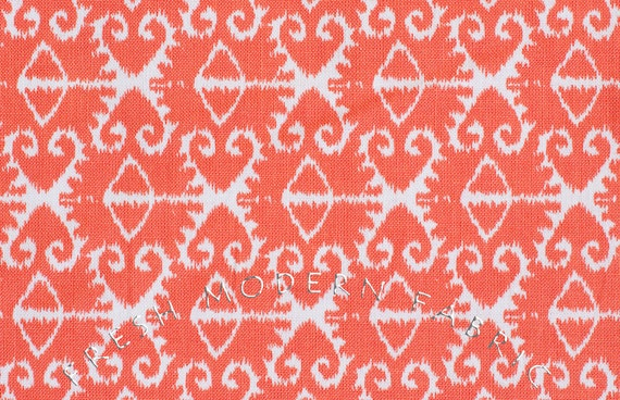 LAST PIECE Half Yard Spa Ikat in Coral, Spa Collection in Sorbet, Michael Miller Fabrics, 100% Cotton Fabric