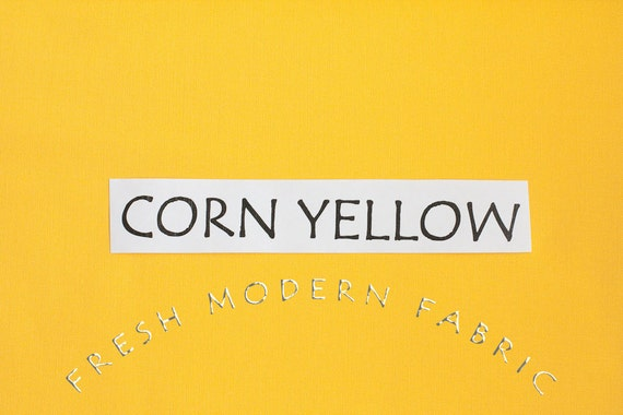 One Yard Corn Yellow Kona Cotton Solid Fabric from Robert Kaufman, K001-1089
