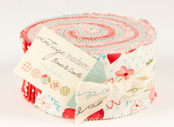 Vintage Modern Jelly Roll, Bonnie and Camille, Moda Fabrics