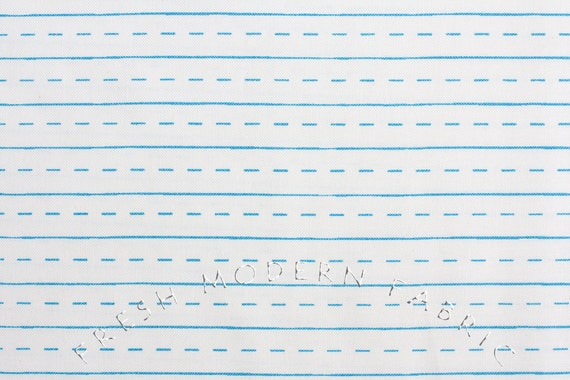 Half Yard of Notebook Paper in White, by The Pixie Pops for Timeless Treasures, 100% Cotton Fabric