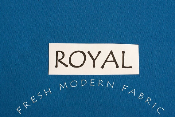One Yard Royal Kona Cotton Solid Fabric from Robert Kaufman