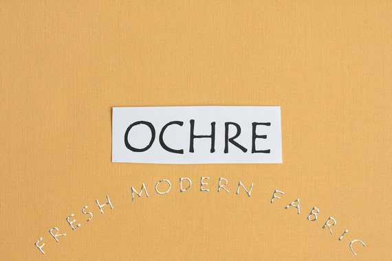 One Yard Ochre Kona Cotton Solid Fabric from Robert Kaufman