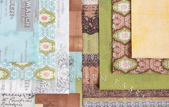 LAST AVAILABLE Half Yard Bundle of Curio, 8 Pieces, Basic Grey for Moda Fabrics, 100% Cotton Fabric