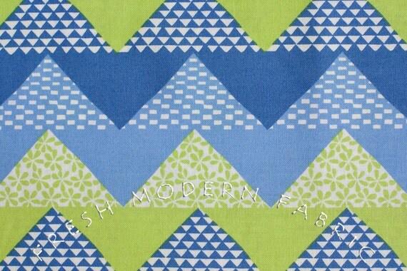 Half Yard Quilt Blocks Chevron Stripe in Marine, Ellen Luckett Baker, Moda Fabrics, 100% Cotton Fabric