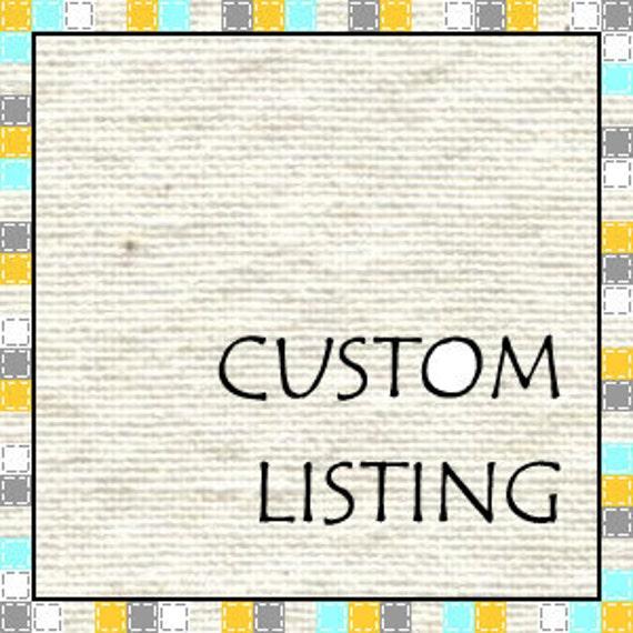 Custom Listing for Vicki