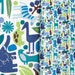 LAST AVAILABLE FQ Bundle 2D and Teeny Tiny Zoo in Pool, Alexander Henry, 100% Cotton Fabric