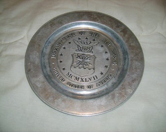 Special Aluminum Alloy Comemorative Air Force Plate (1)