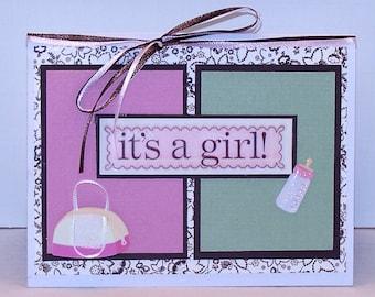 Baby Shower Girl Card Custom Its A Girl