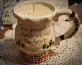 Soy Wax Candle in a Coffee Mug-Hazelnut Coffee Scented