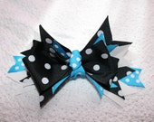 Blue and Black Hair Bow