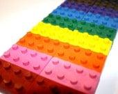Set of 25- BUILDING BLOCK BRICKS Shaped Crayons - Doodle R Us