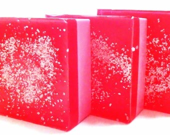 POMEGRANATE Shea Butter Handmade Soap with SEA SALT