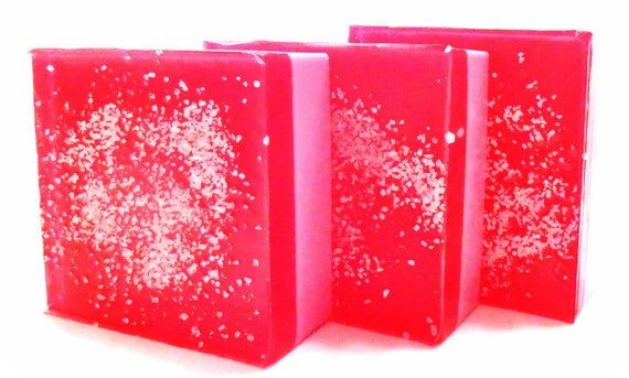 Pomegranate Glycerin Soap - Shea Butter - Handmade Soap - VEGAN