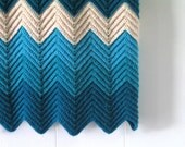 Chevron Stripe Afghan