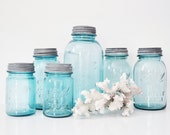Aqua Mason Jar Collection