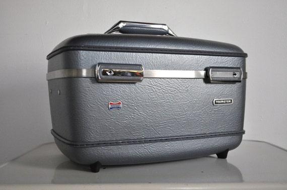 American Tourister Train Case - Metallic Blue - Gray