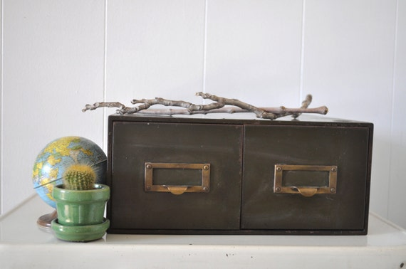 Industrial Steel File Cabinet with Drawers