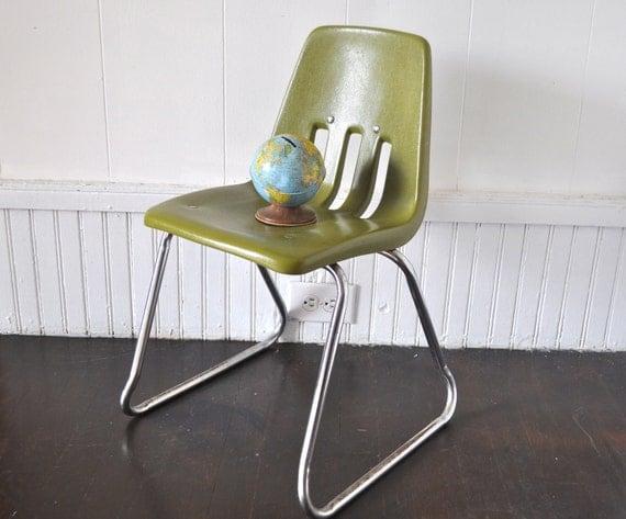 Avocado Green Child's Chair