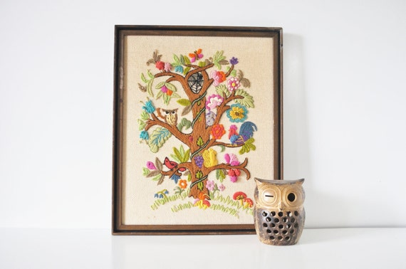 Tree of Life Crewel Embroidery