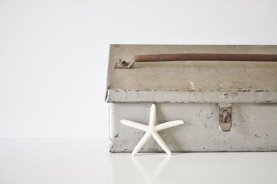 Vintage Metal Industrial Tool Box