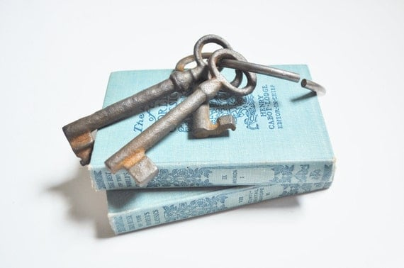 Antique Skeleton Keys with Ring