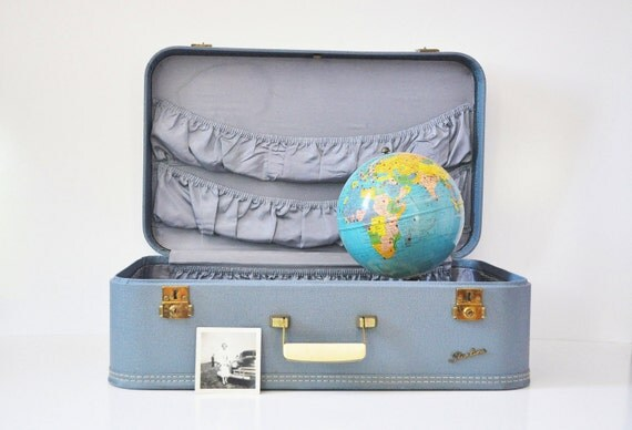Turquoise Starline Suitcase