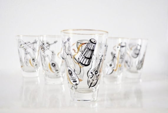 Mid-Century Tumblers- Musical Instruments
