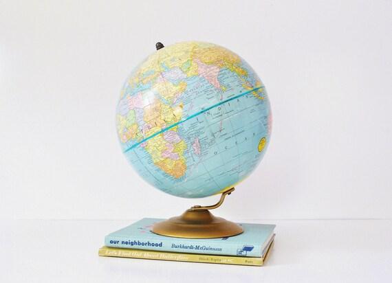 9 Inch Terrestrial World Globe - Cram's World Globe