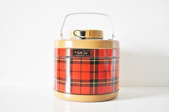 Skotch Plaid Cooler / Thermos - Original Box