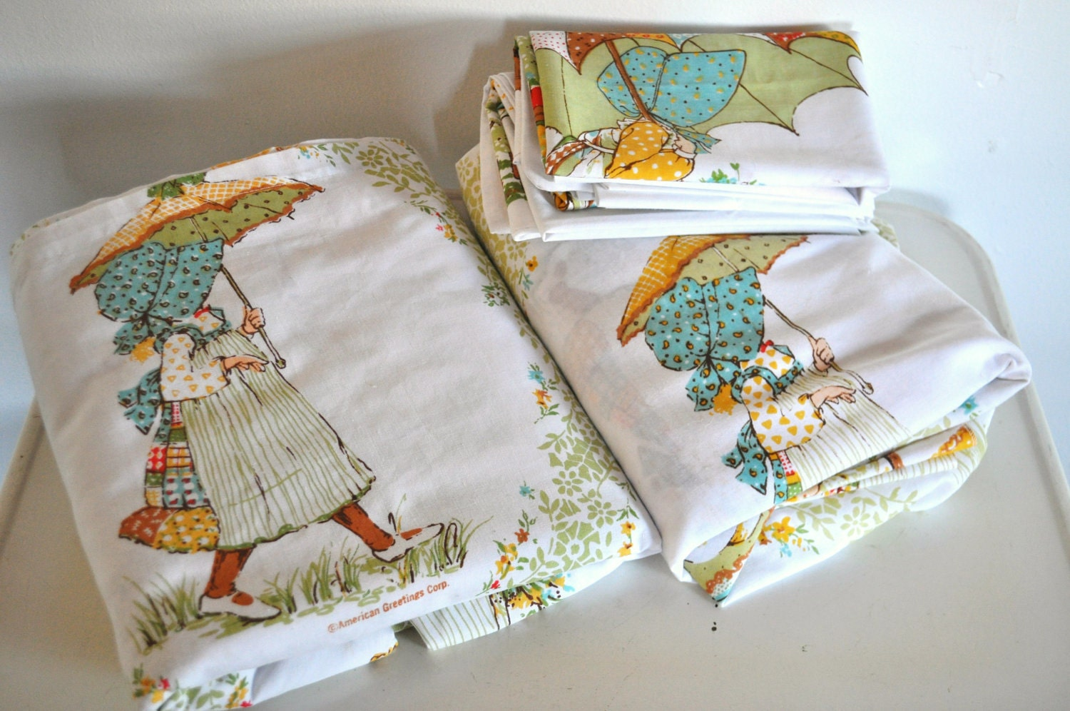 Reserved Holly Hobbie Full Size Sheet Set