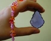 Crystal Sun Catcher purple french cut (good feng shui)