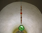 Crystal Sun Catcher Extra Large 40mm green sphere (good feng shui)