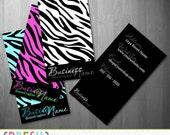 Zebra Print Business or Calling Card Design