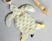 Pacifier Holder - Sea Turtle - Girl or Boy - Baby Shower Gift - Butter Yellow