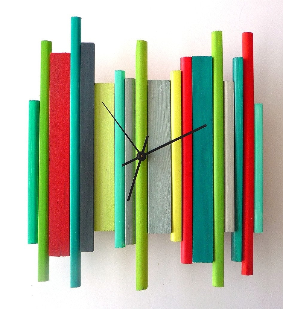 Sale Of The Day Modern Wall Clock Modern Retro Geometric