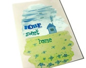 ACEO - Home, sweet home - Original watercolor