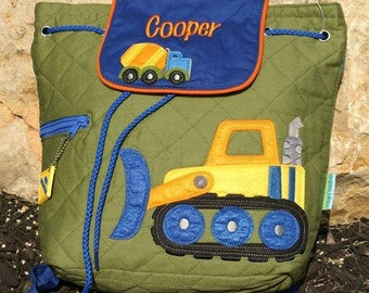 Stephen Joseph  Construction Backpack, Personalized Free