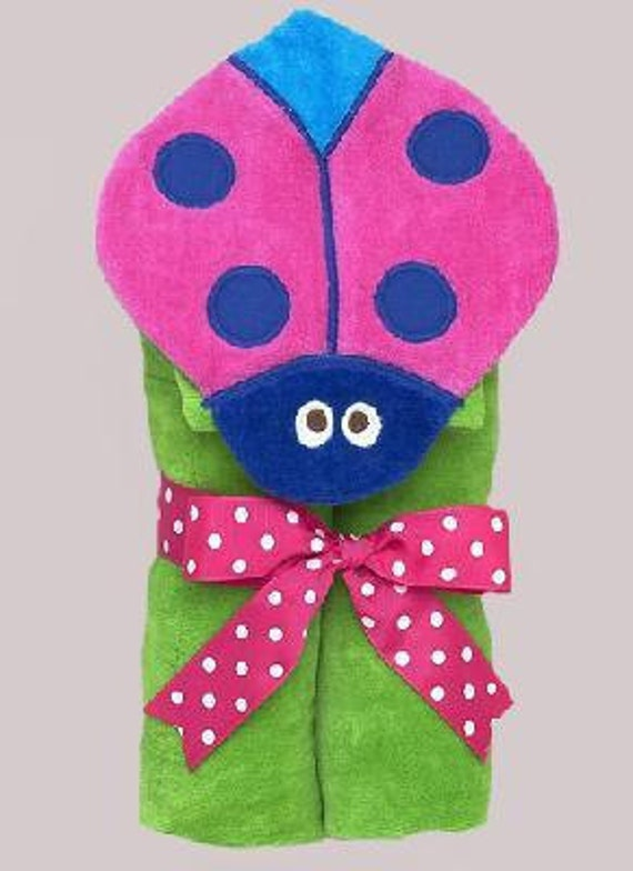 Hooded Towel-Ladybug, Personalized for You