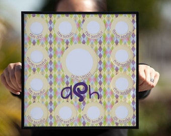 """Baby's First Year Frame (Customizable)--""""Surrounded"""""""