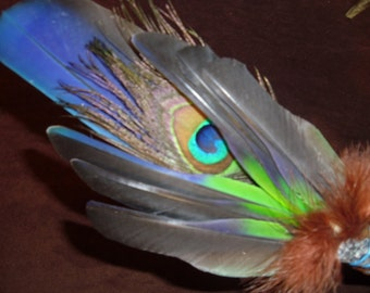 Smudge Fan-Rainbow over the Mountain - Sacred Prayer Fan-made to order