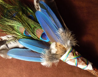 Smudge Fan- Spirit Guide- Sacred Prayer Fan with Arrowhead- Made to Order
