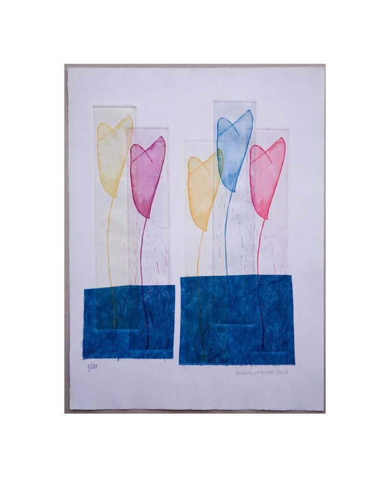 """Engraving: """"Tulips """""""