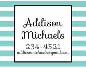 Horizontal Stripes Custom Calling Cards